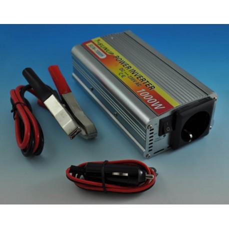 PRZETWORNICA NAPIĘCIA SAMOCHODOWA 24V DC - 230V AC moc 1000W / 2000W - CE, RoHs