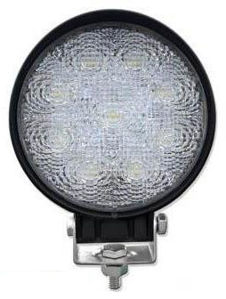 LAMPA ROBOCZA OKRĄGŁA 9 LED REFLEKTOR 27W 12V 24V