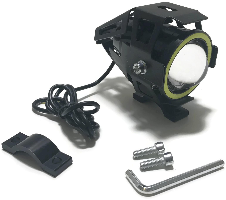 LAMPA LED CREE U7 RING COB MOTOCYKL SKUTER 12V 24V CZARNA
