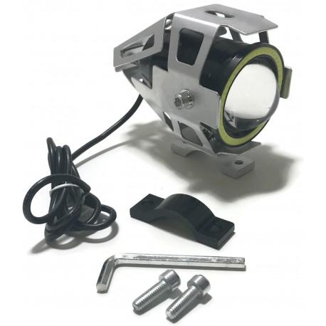 LAMPA LED CREE SOCZEWKA U7 RING COB MOTOCYKL 12V S
