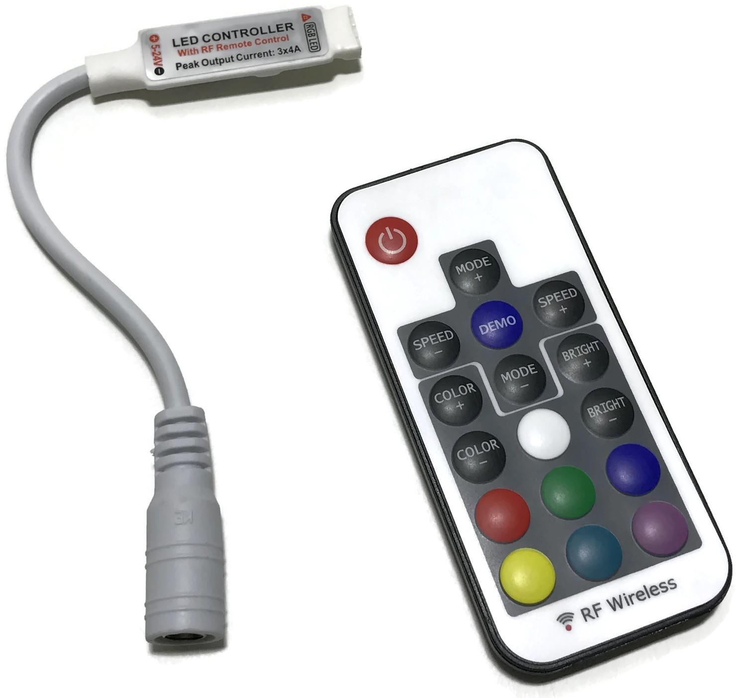 STEROWNIK KONTROLER RGB LED RADIOWY MINI PILOT 12V