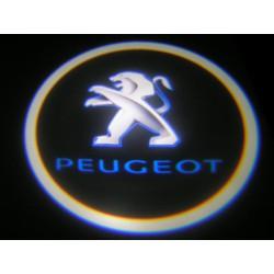 LOGO LED PROJEKTOR PEUGEOT + OTWORNICA - LAMPKI 12V