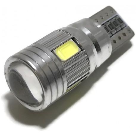 ŻARÓWKA LED W5W T10 5630 SMD CanBus SOCZEWKA 12v