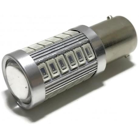 ŻARÓWKA LED SMD 5630 BA15S P21W POMARAŃCZOWA 12V
