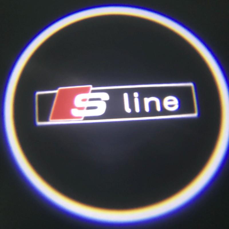 led logo projektor audi s line a3 a4 a6 a8 q5 q7. Black Bedroom Furniture Sets. Home Design Ideas
