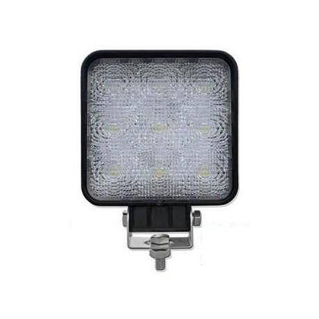 LAMPA 9 LED ROBOCZA KWADRATOWA HALOGEN 12V 24V 27W