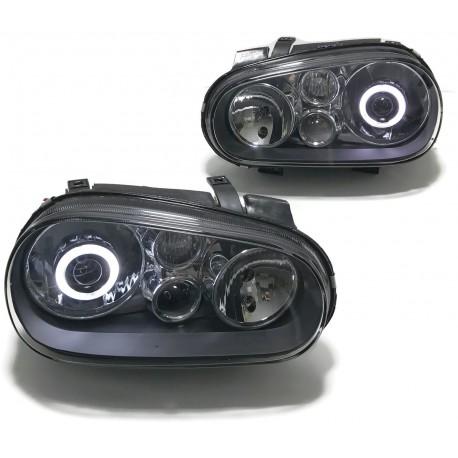 LAMPY VW VOLKSWAGEN GOLF 4 IV BIXENON RINGI CZARNE