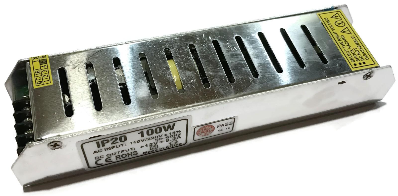 ZASILACZ IMPULSOWY LED CCTV 230V - 12V DC 100W 8A