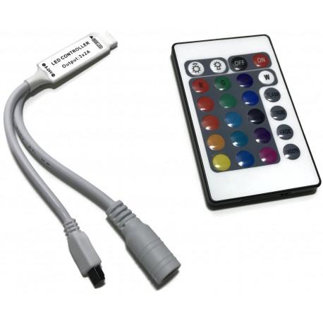 KONTROLER STEROWNIK LED RGB PILOT 24 PRZYCISKI 6A
