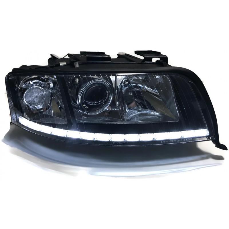 Lampy Audi A6 C5 Bixenon Soczewki Led Dzienne Kier