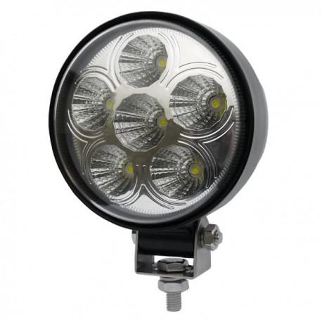 LAMPA DALEKOSIĘŻNA OKRĄGŁA 6 LED SZPERACZ 12V 24V