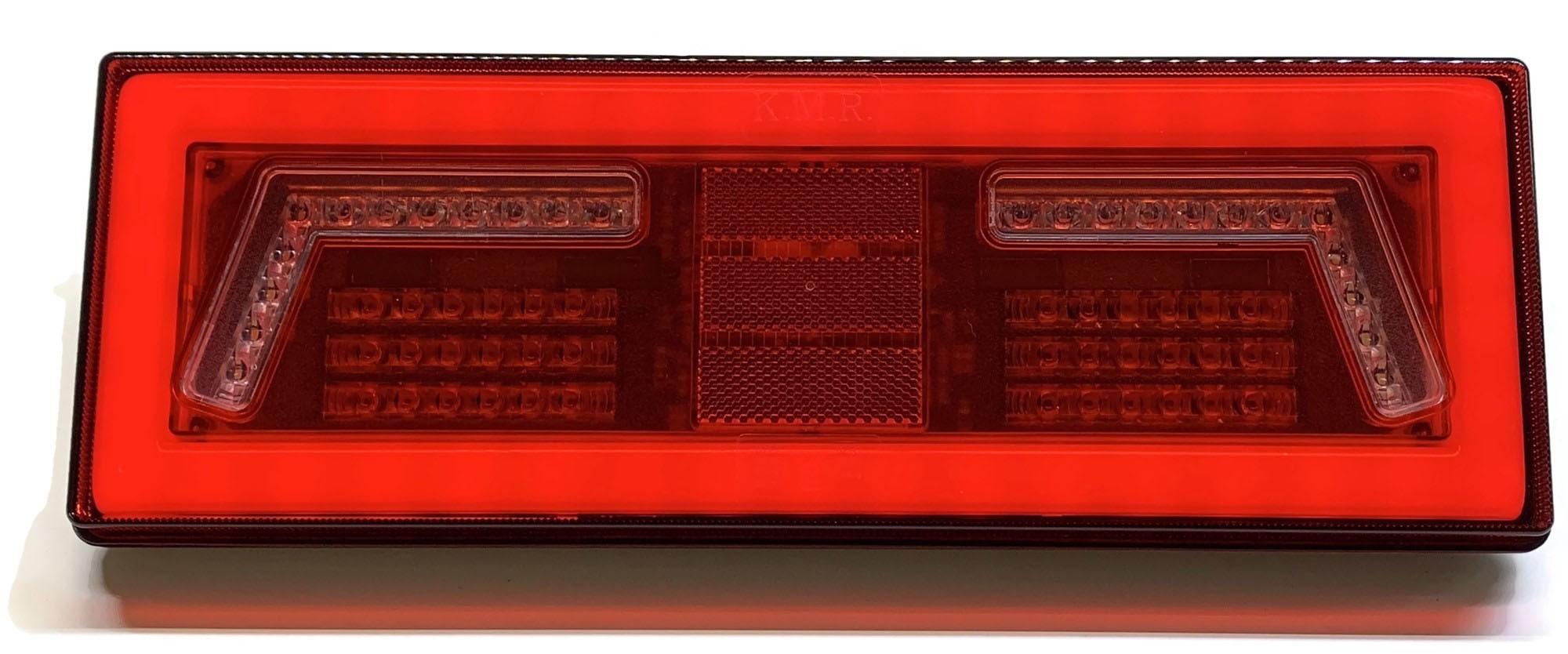 LAMPA LED TYLNA ZESPOLONA NEON PRZYCZEPA 12V 24V P