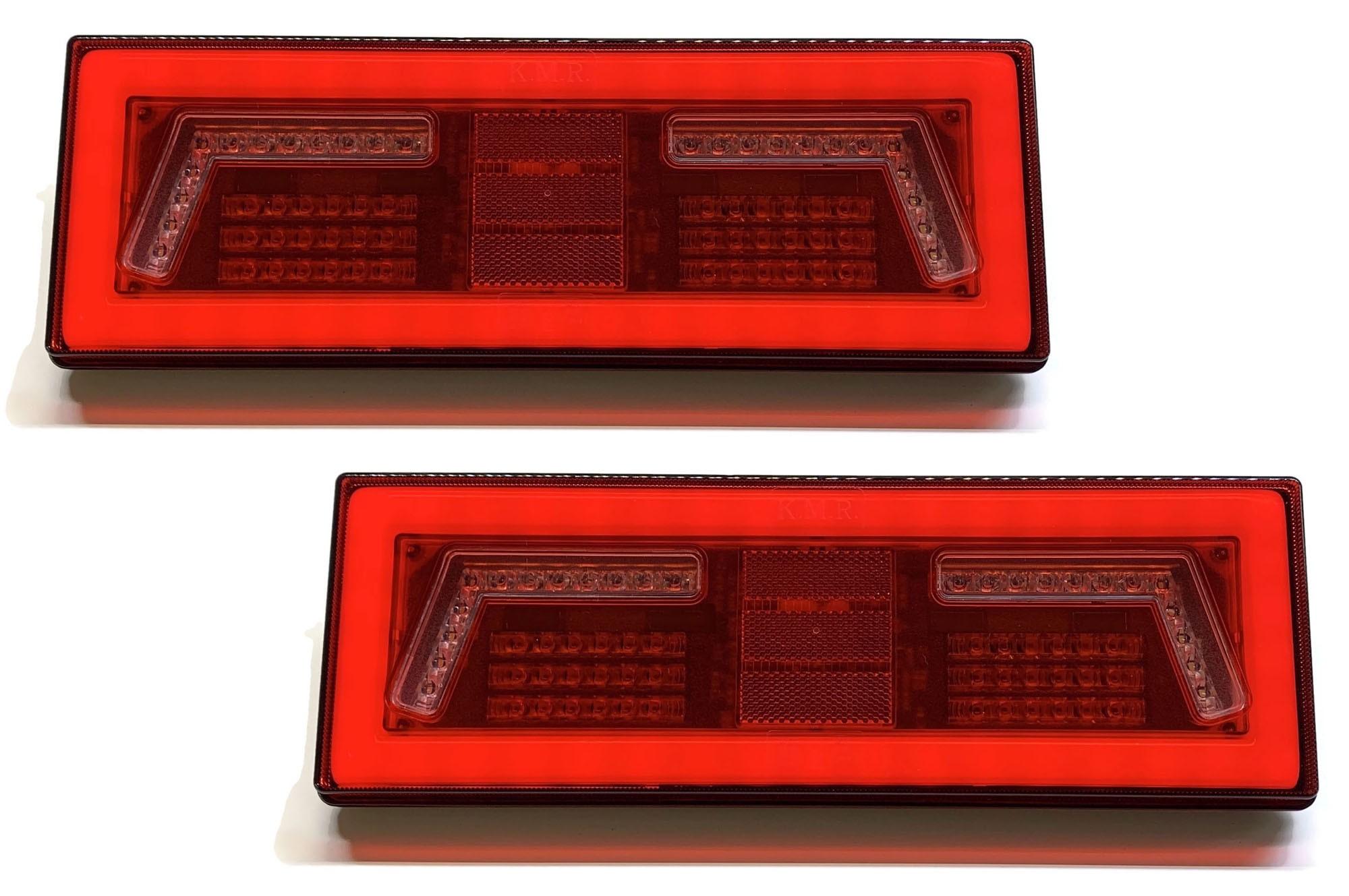 2X LAMPA LED TYLNA ZESPOLONA NEON TIR KMR 12V 24V
