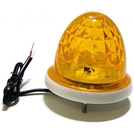 KOGUT LAMPA BRAMY DRZWI POMARAŃCZOWA 12V 24V