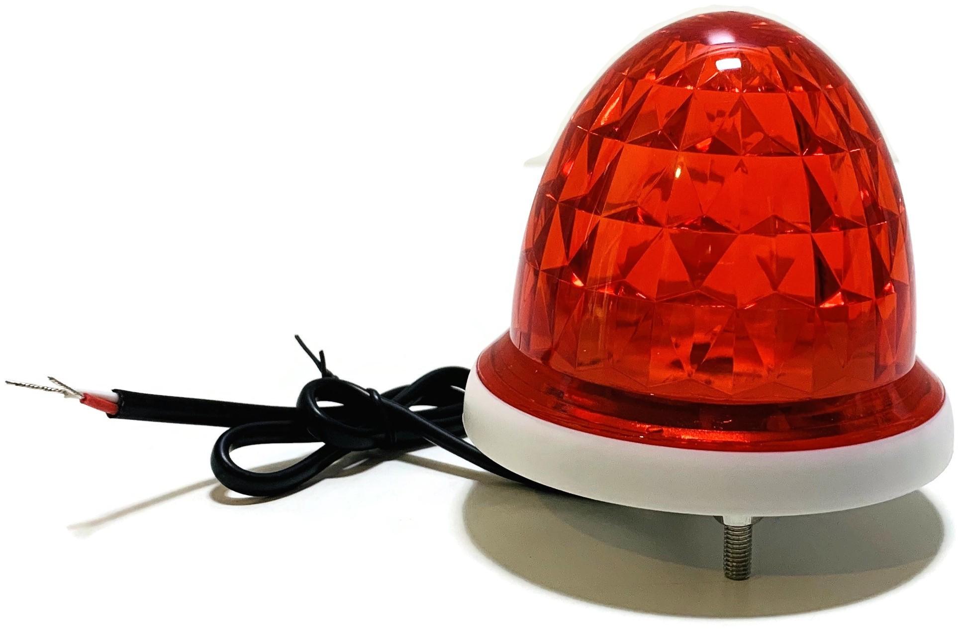 KOGUT LAMPA BRAMY DRZWI CZERWONY 12V 24V
