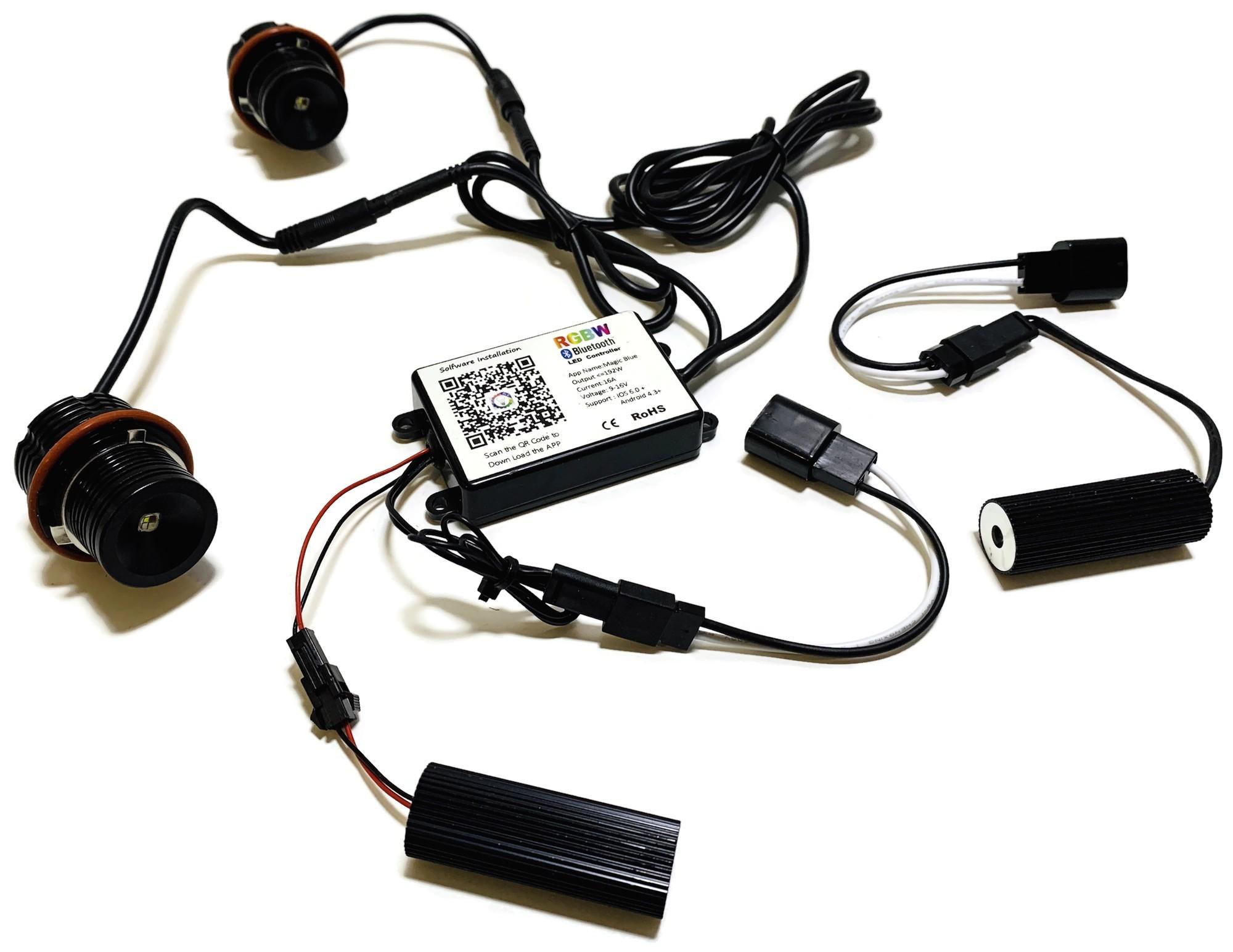 RGBW RINGI LED MARKERY BMW E39 E60 E61 E83 E65 BT