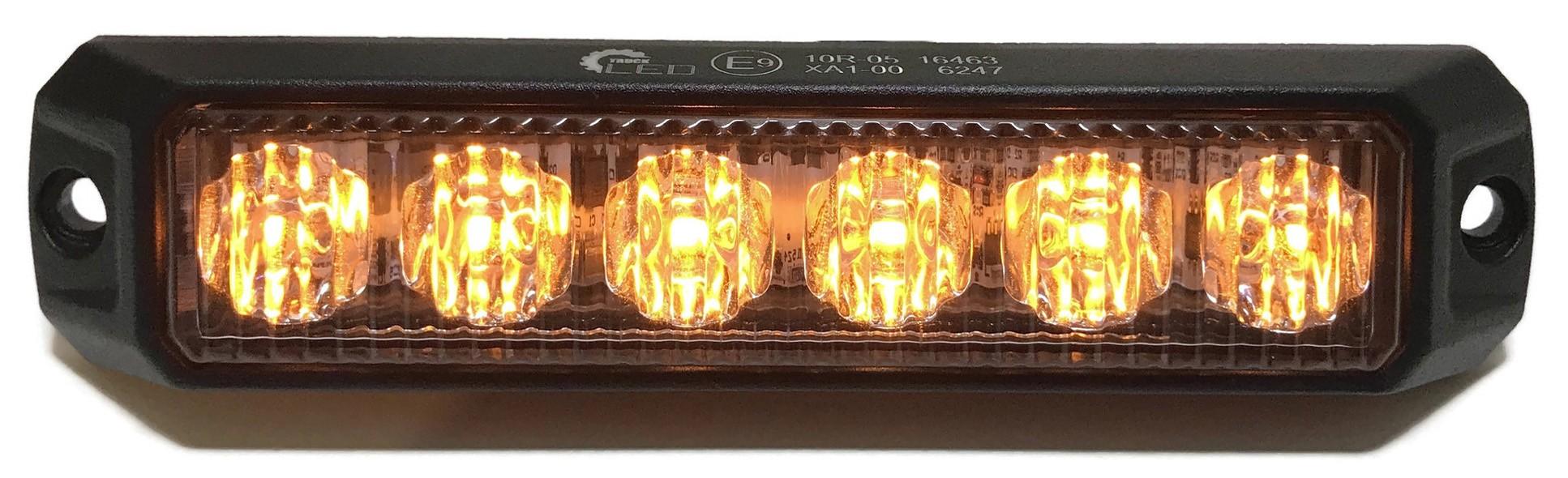 LAMPA OSTRZEGAWCZA BŁYSKOWA 6 LED ŻÓŁTA STROBOSKOP