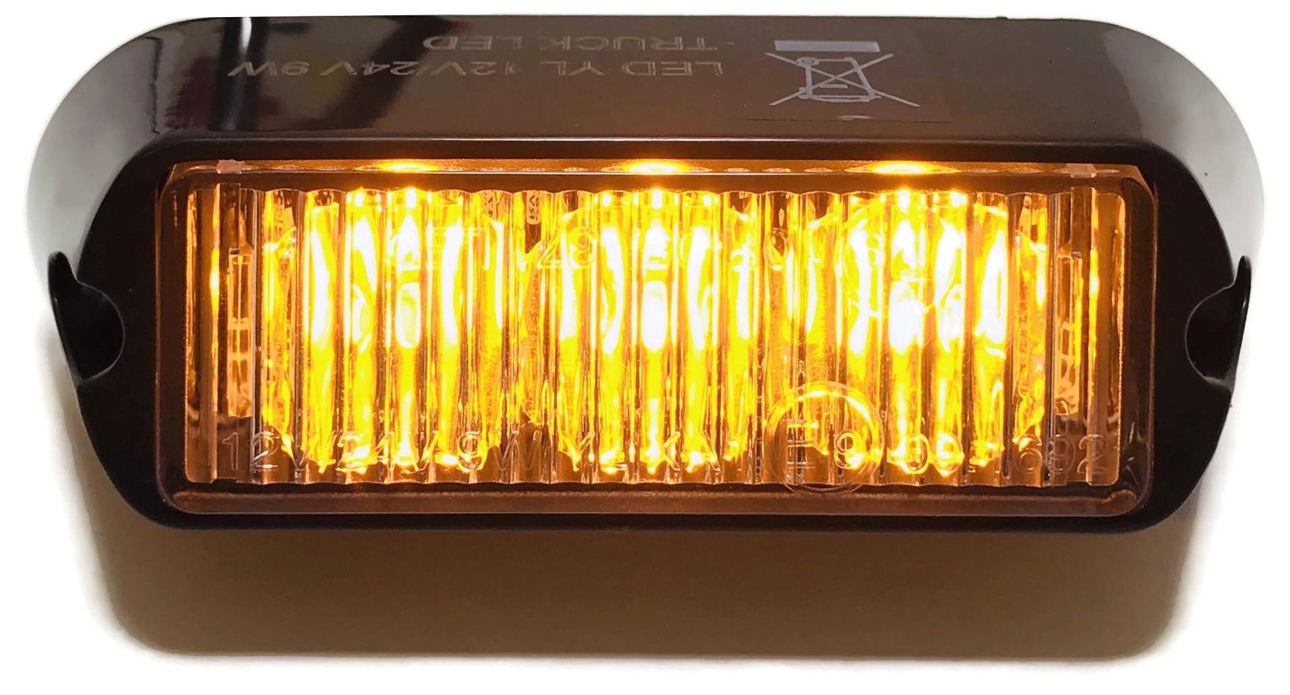 LAMPA OSTRZEGAWCZA 3 LED STROBOSKOP POMOC DROGOWA