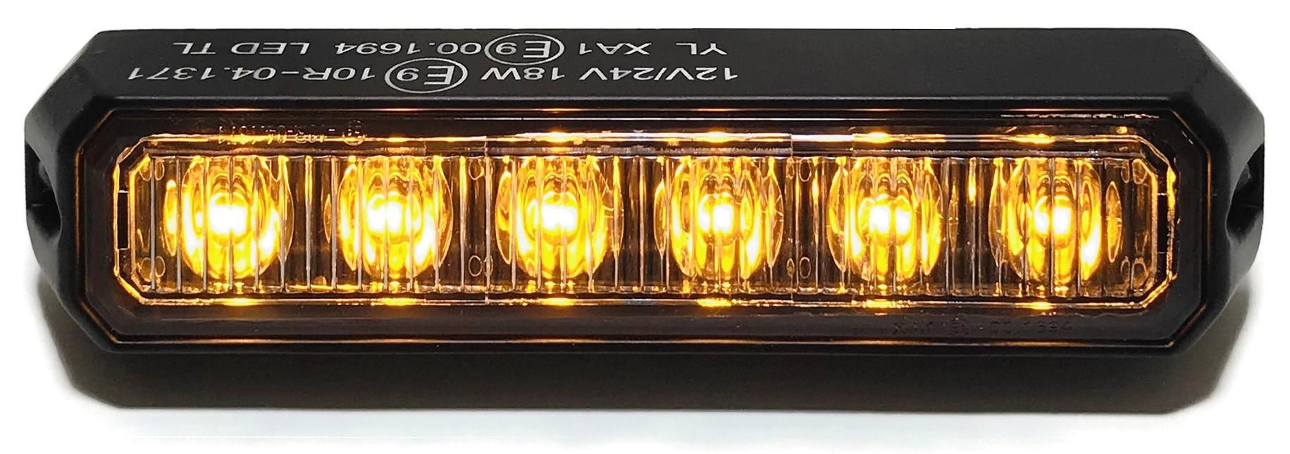 LAMPA OSTRZEGAWCZA 6 LED STROBOSKOP AUTOLAWETA TIR