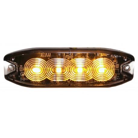 LAMPA OSTRZEGAWCZA 4 LED SLIM STROBO AUTOLAWETA