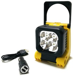 LAMPA ROBOCZA 4 LED MAGNES NA BATERIE ŁADOWANA USB