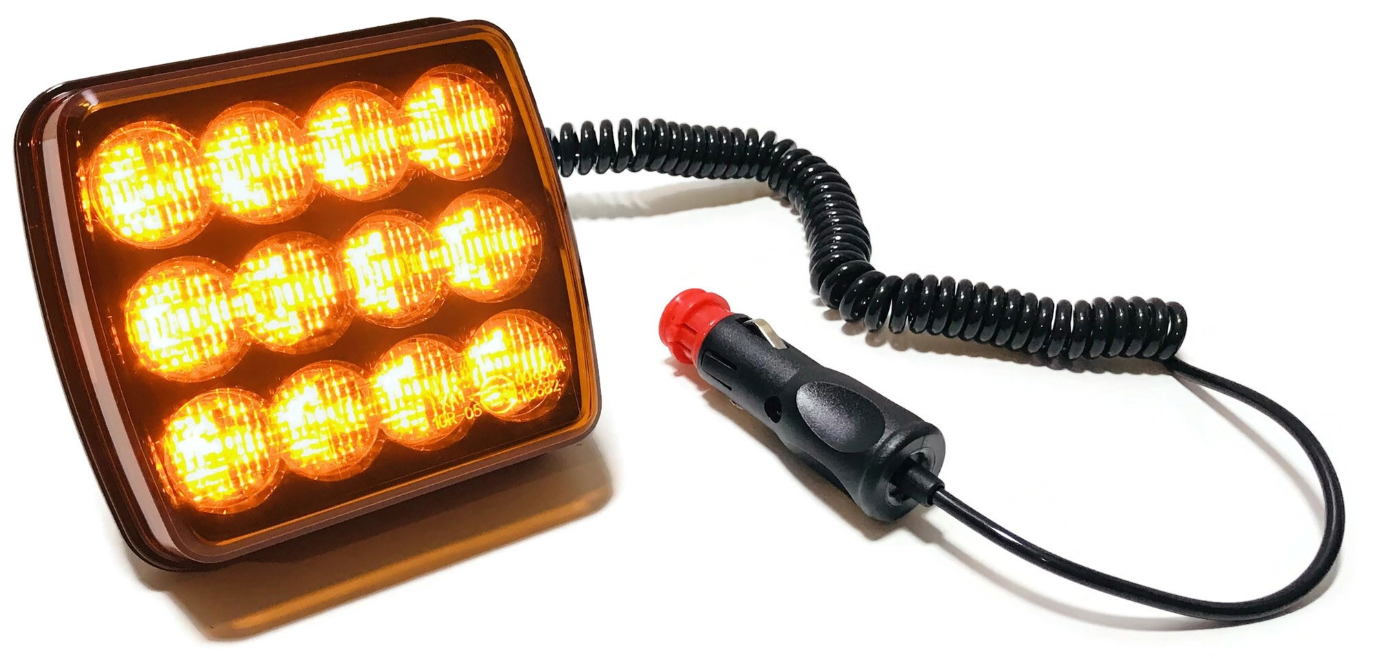 LAMPA LED OSTRZEGAWCZA BŁYSKOWA STROBOSKOP MAGNES