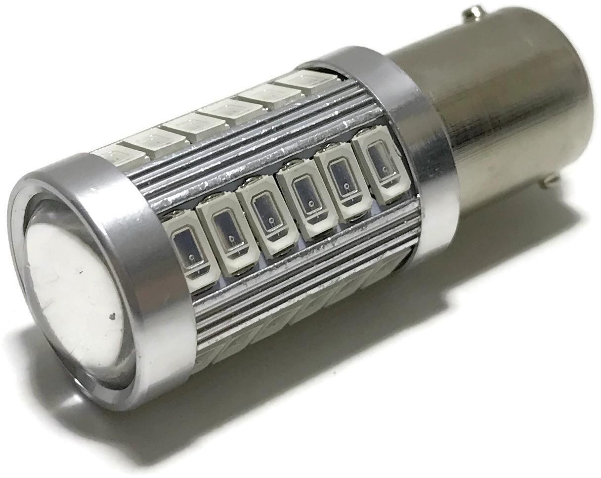 ŻARÓWKA LED SMD 5630 BA15S P21W CZERWONA STOP 12V