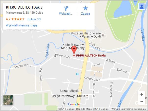 Mapka dojazdu - otwórz w google i zobacz jak do nas trafić!