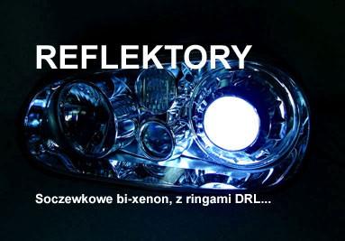 Reflektory samochodowe bixenon, z ringami CCFL, SMD jako światła dzienne.  Indywidualne zmiany...