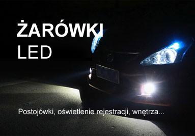 Postojówki LED, żarówki podświetlenia rejestracji, wnętrza samochodu, żarówki do świateł dziennych..